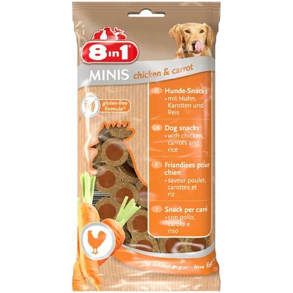 8in1 Minis Hundesnacks Lamm Rind Huhn Kaninchen