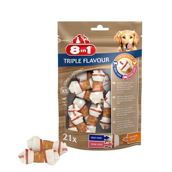 8in1 Triple Flavour Kauknochen