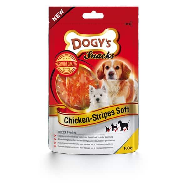 Chicken Stripes Soft Hundesnacks von Dogy's
