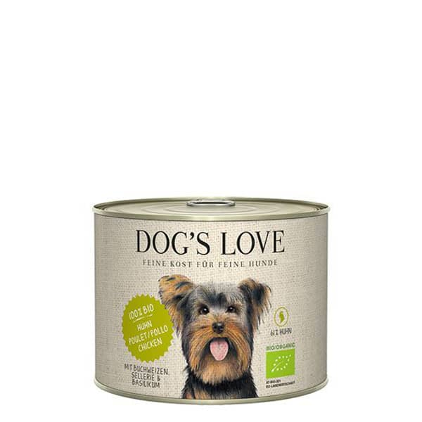 DOGS LOVE Bio Hundefutter Huhn Buchweizen 200g