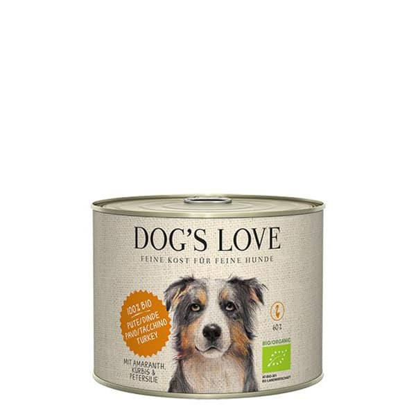DOGS LOVE Bio Hundefutter Pute Amaranth 200g