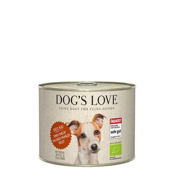 DOGS LOVE Bio Rind Hundefutter 200g