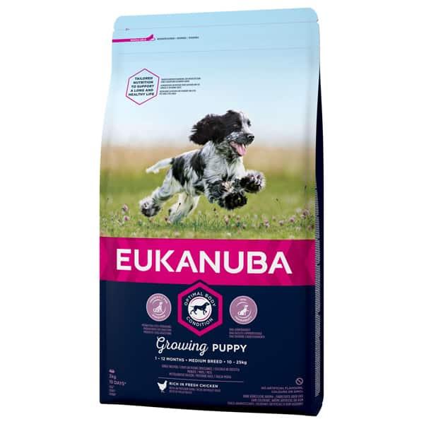 Eukanuba Puppy Medium Welpen Hundefutter 3Kg