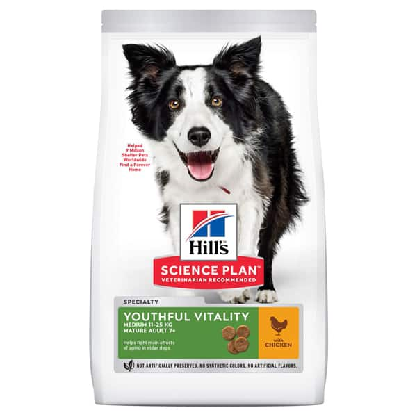 Hills Science Plan Youthful Vitality 7 Adult Hundefutter 800g