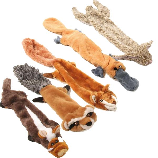 Hundespielzeug nicht ausgestopfte Plueschtiere