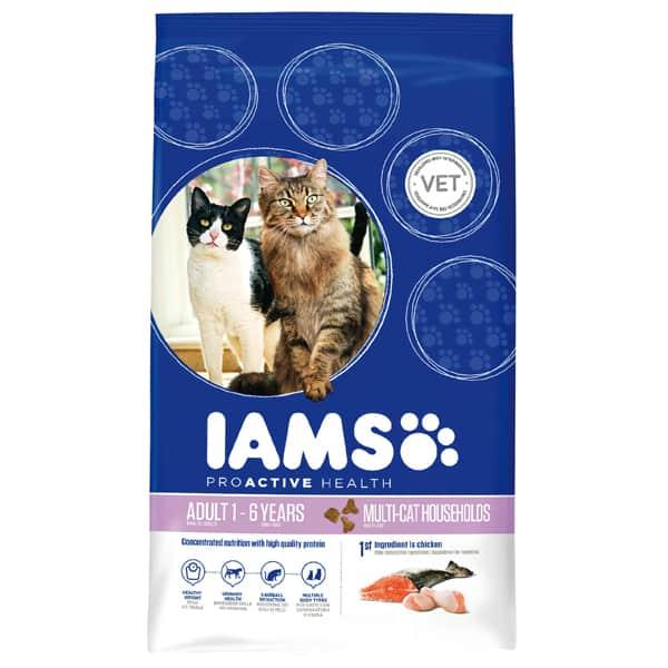 Katzenfutter IAMS Multi Cat mehrere Katzen 15kg