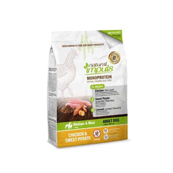 Natural Impuls Trockenfutter Huhn mit Süsskartoffe