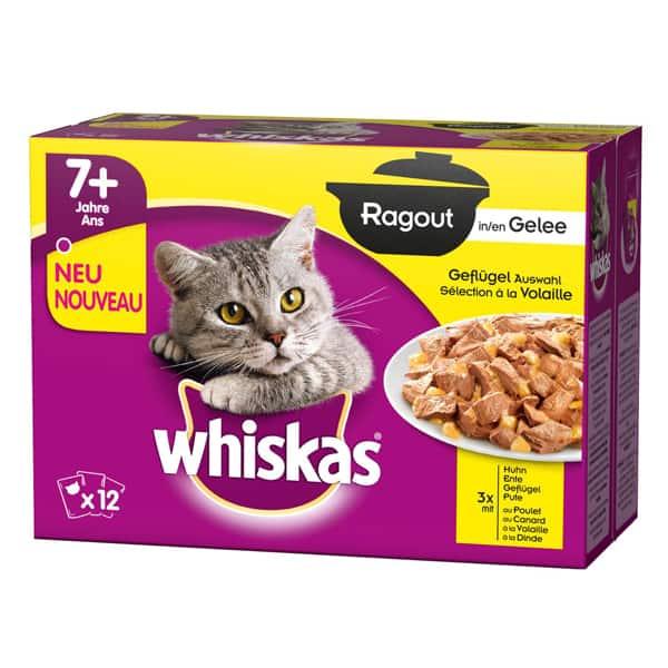 Whiskas Senior 7 Katzenfutter Gelee Geflügel