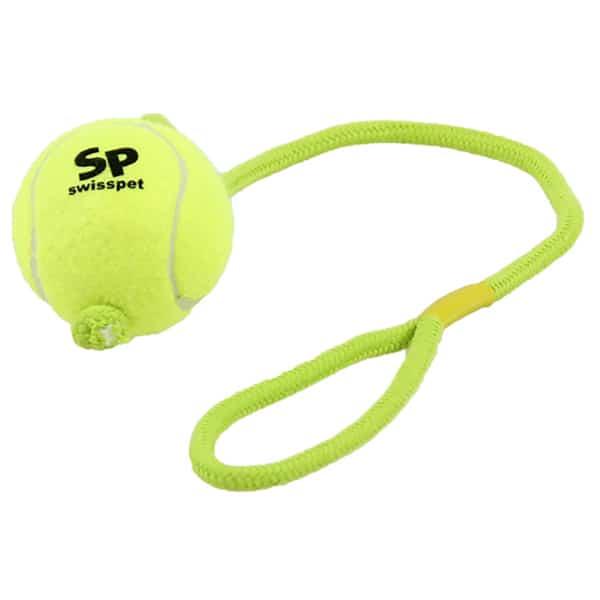swisspet Hundespielzeug Smash und Play Tennisball mit Seil